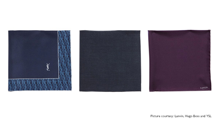 various kinds of pocket squares