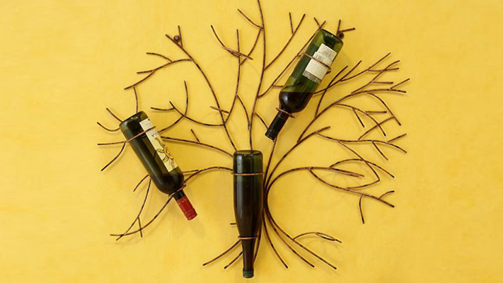 Wall Tree wine rack cool Bar Accessories