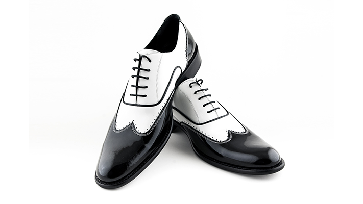 wearing monochrome coloured shoes for men