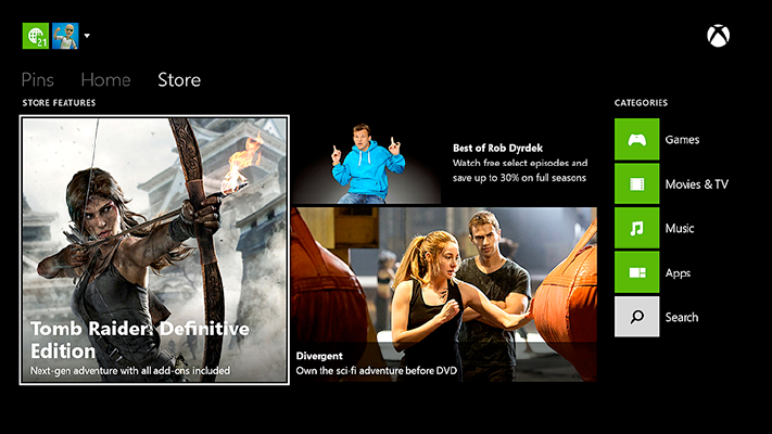 whats on expands xbox features