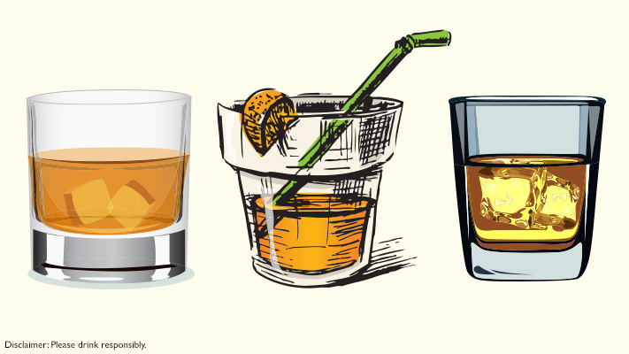 whiskey glasses or lowball glasses ideal to serve cocktails