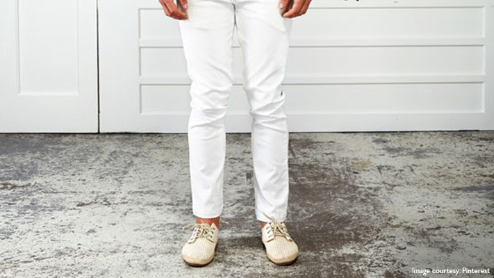 white chinos for smart casual look