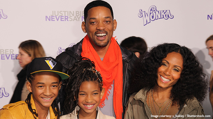 will smith with his family