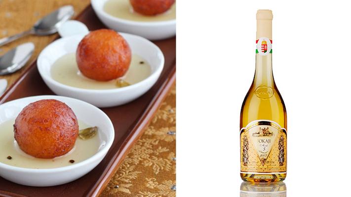 Pair wines tokaji aszu-5 with gulab jamun