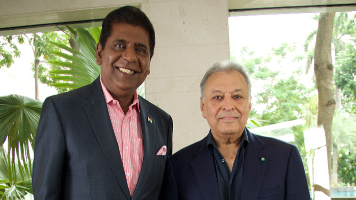 zubin mehta with vijay amritraj in pursuit of excellence